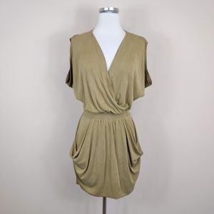 Rachel Roy Olive Green Dolman Sleeve Wrap Dress